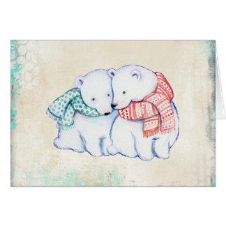 Ursos polares no cartão de Natal dos Scarves