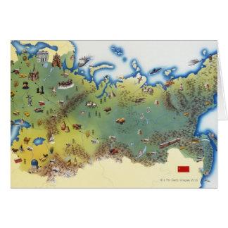 URSS, mapa da união do socialista soviético Cartão Comemorativo