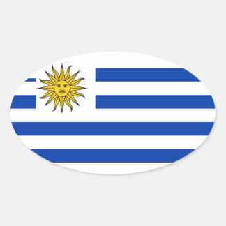 Uruguai Adesivos Em Formato Oval