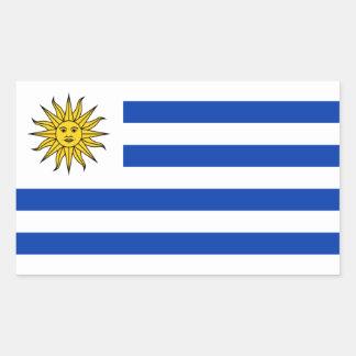 Uruguai/bandeira uruguaia adesivo retangular