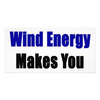 """Usar energias eólicas fá-lo mais """"sexy"""" cartão com foto personalizado"""