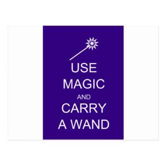 Use o carregar mágico uma varinha cartões postais