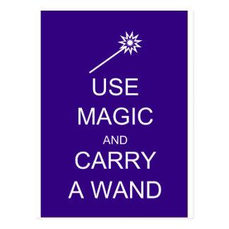 Use o carregar mágico uma varinha cartao postal