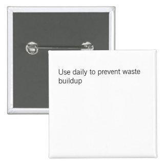 Use o diário para impedir o botão waste do acúmulo bóton quadrado 5.08cm