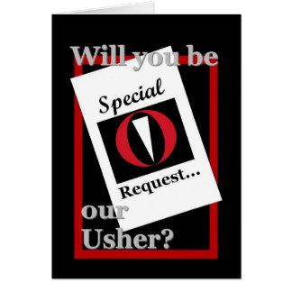 USHER que Wedding o convite - pedido especial Cartão Comemorativo