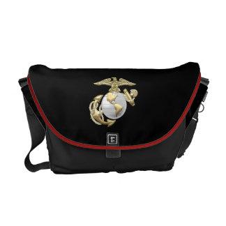 USMC Eagle, globo & âncora (EGA) [3D] Bolsa Mensageiro