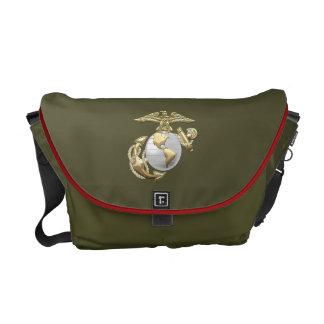 USMC Eagle, globo & âncora (EGA) [3D] Bolsas Mensageiro