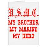 USMC meu irmão meu fuzileiro naval meu herói Cartões