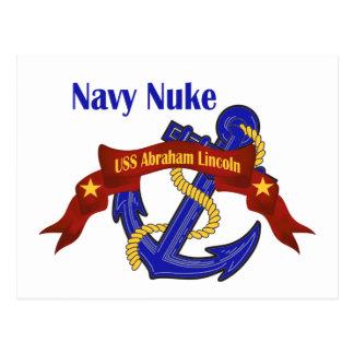 ~ USS Abraham Lincoln das armas nucleares do Cartão Postal