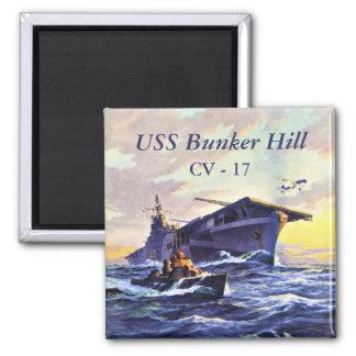 USS Bunker Hill no mar Ímã Quadrado