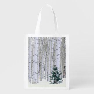 UTÁ. EUA. Aspen (tremuloides do Populus) & Douglas Sacolas Ecológicas Para Supermercado
