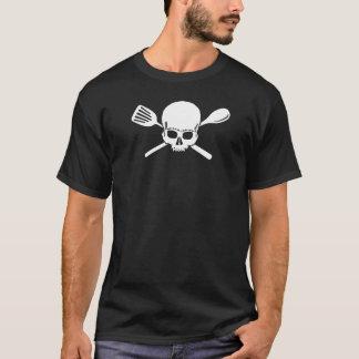 utensílios do crânio e da cruz camiseta