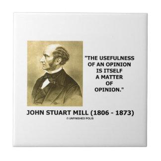 Utilidade de John Stuart Mill de umas citações da