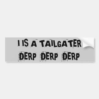 Utilização não autorizada Derp Derp Derp Adesivo Para Carro