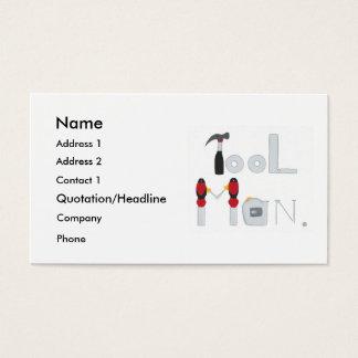 Utilize ferramentas o homem soletrado com pintura cartão de visitas