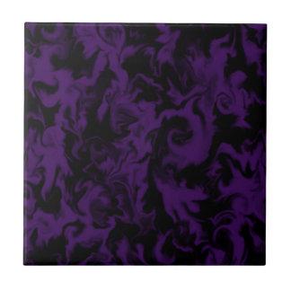 Uva escura & azulejo misturado preto da cor