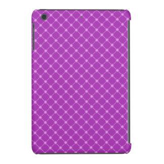Uva na moda, teste padrão cruzado roxo capa para iPad mini retina