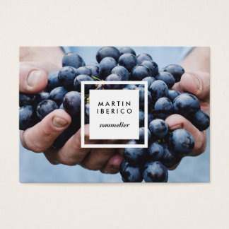 Uvas para vinho Sommelier ou cartões de visitas do