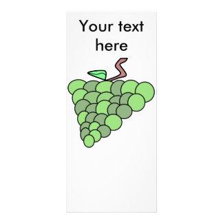 Uvas verdes retros do país 10.16 x 22.86cm panfleto