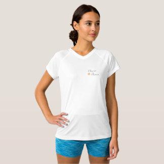 V - camisa da tecnologia do pescoço