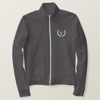 V jaqueta da trilha do logotipo