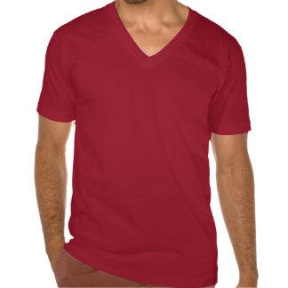 V-pescoço picante do vermelho do Tacos de peixes Camiseta