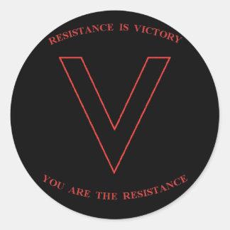 V são para a etiqueta da vitória adesivo