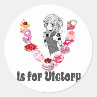 V são para a vitória adesivo