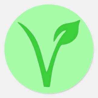 V são para o Vegan Adesivo