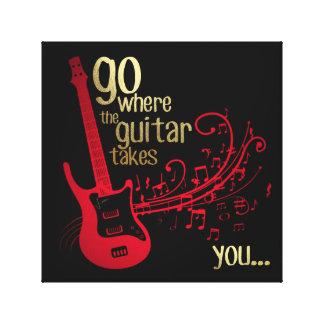 Vá aonde a guitarra o toma…. Arte das canvas