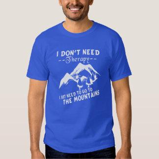 Vá às montanhas camiseta