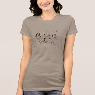 Vá com a viagem do flutuador do rio do fluxo camiseta