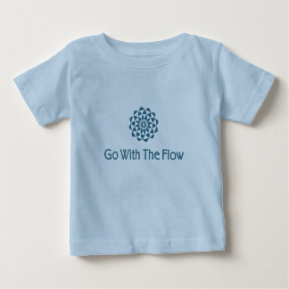 Vá com o fluxo camiseta para bebê