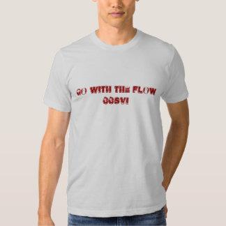 Vá com o fluxo camisetas