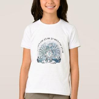 Vá com o grifo do fluxo camiseta