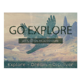 Vá exploram cartão postal