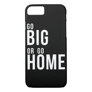 Vá grande ou vá em casa preto e branco capa iPhone 7