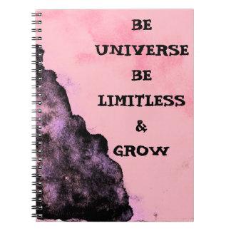 Vá ilimitado como o caderno do universo
