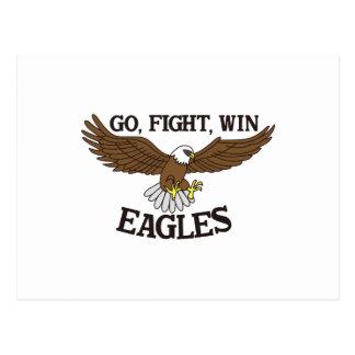 Vá, lute, ganhe Eagles Cartão Postal