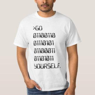 Vá (palavra de praga binária) você mesmo camiseta