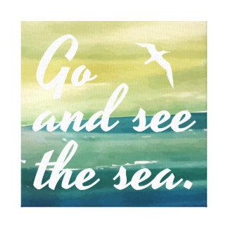 Vá ver o impressão das canvas do mar |