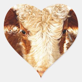 Vaca Adesivo Coração