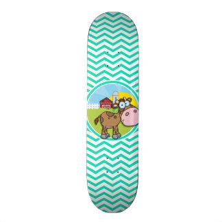 Vaca; Aqua Chevron verde Skate