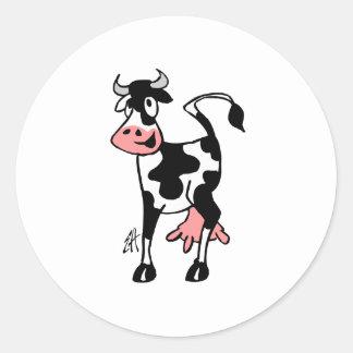 Vaca Adesivos Em Formato Redondos
