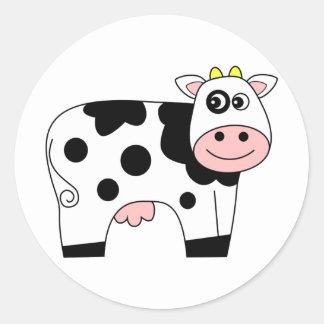 Vaca bonito dos desenhos animados adesivo