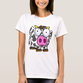 Vaca bonito dos desenhos animados camiseta