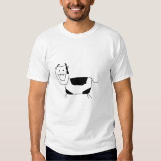 vaca branca preta t-shirt