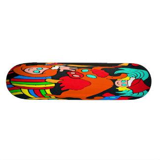 Vaca/Bull e desenhos animados das crianças das men Shape De Skate 18,4cm