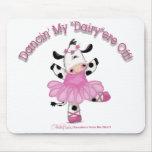 Vaca da bailarina mouse pads