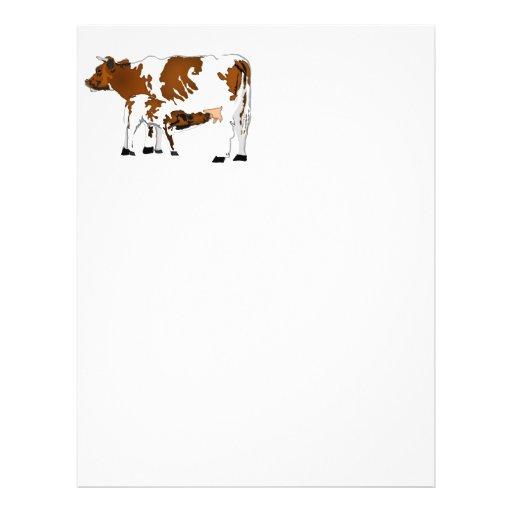 Vaca da mãe com vitela modelos de panfleto